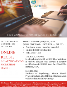 Online RECBT Level 1 June 2020