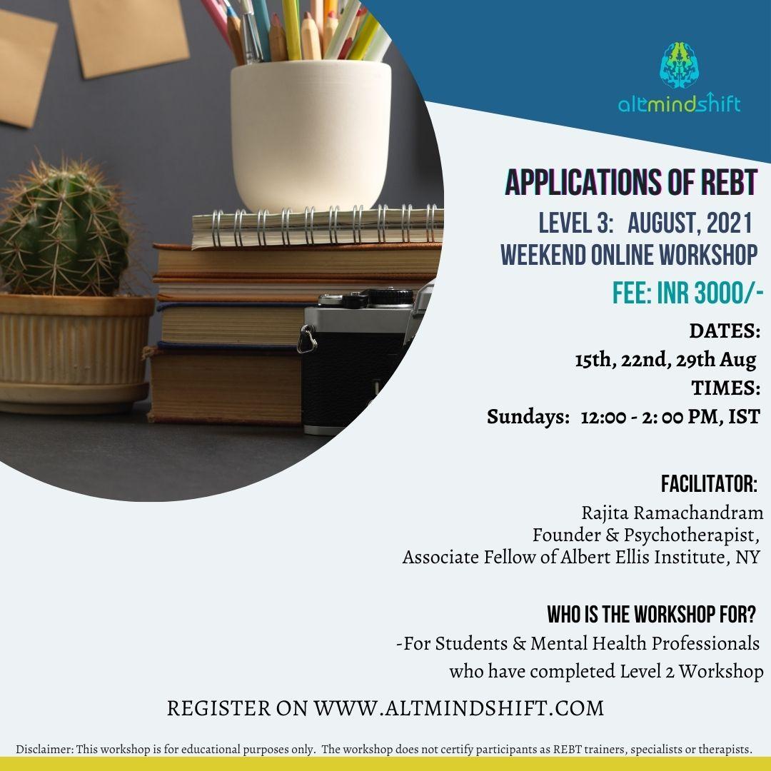 REBT Online Workshop Level 3 - August