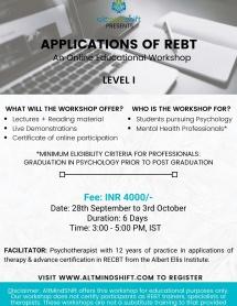 RECBT Online Workshop-Level 1 Sept 2020
