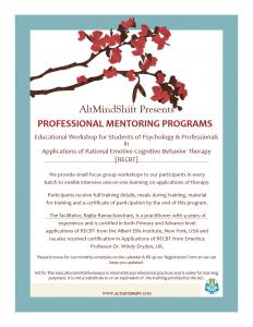 RECBT Mentoring Program